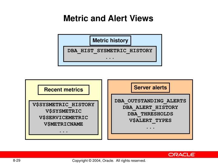 Metric and Alert Views