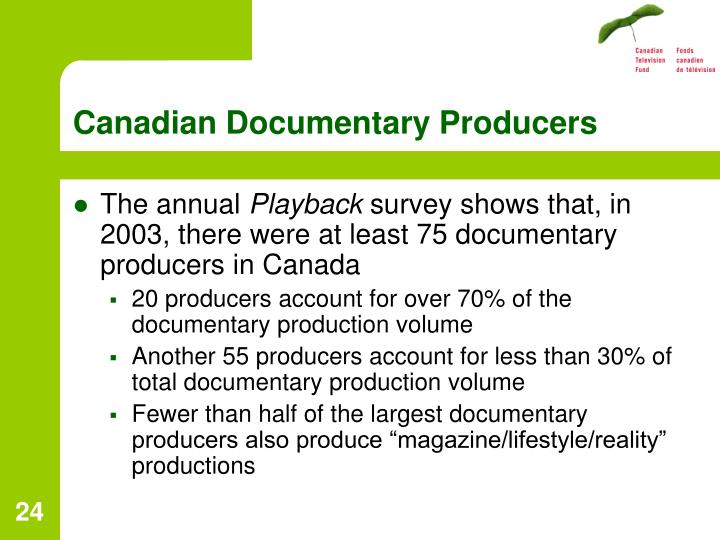 Canadian Documentary Producers