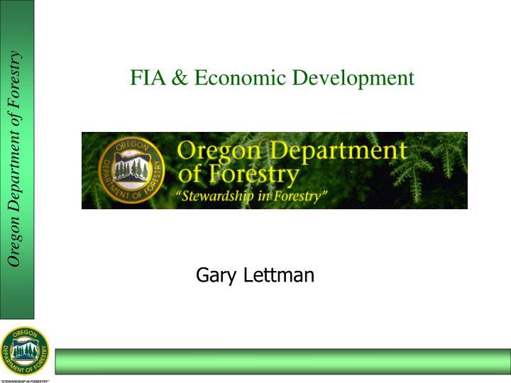 FIA & Economic Development