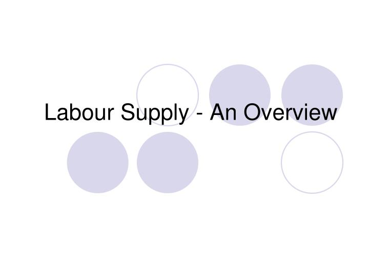 Labour Supply - An Overview
