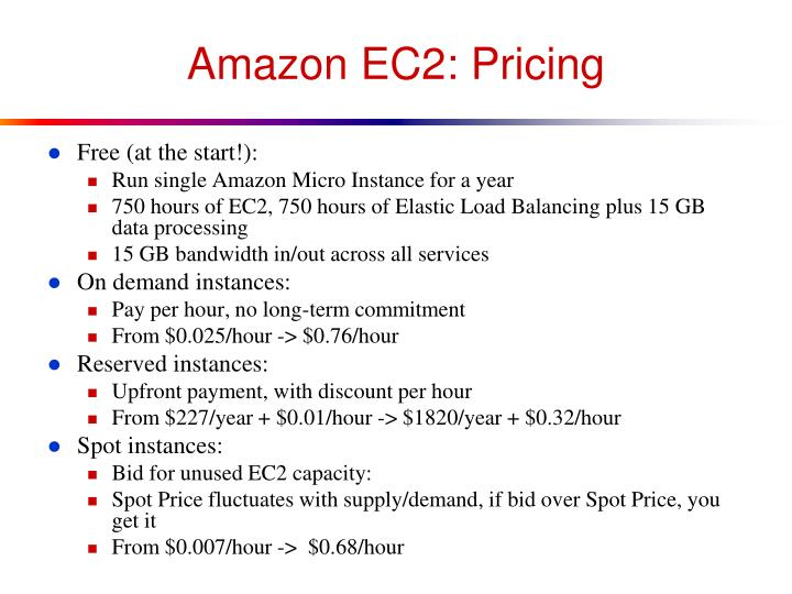 Amazon EC2: Pricing
