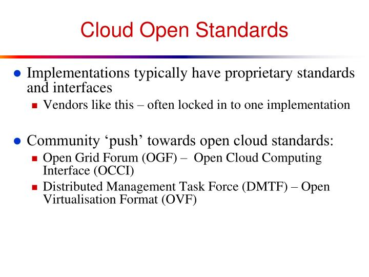 Cloud Open Standards