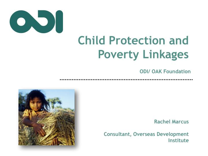Child Protection and Poverty Linkages