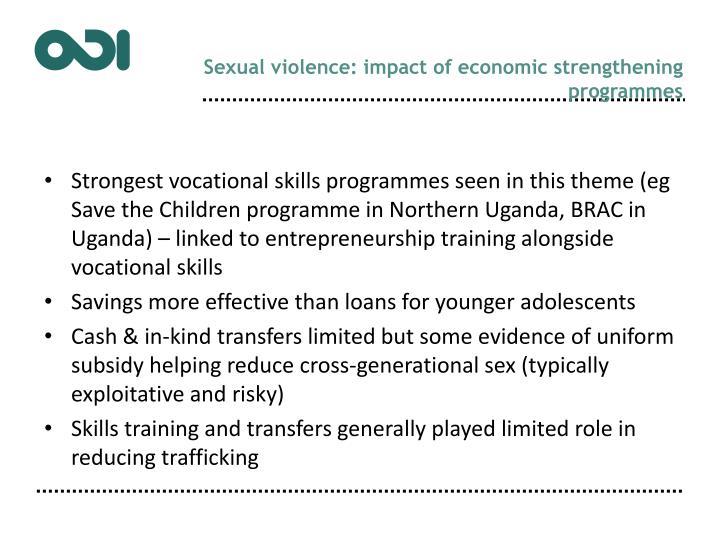 Sexual violence: impact of economic strengthening programmes