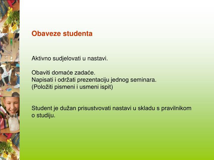 Obaveze studenta