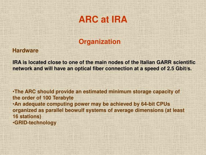 ARC at IRA