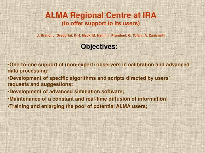 ALMA Regional Centre at IRA