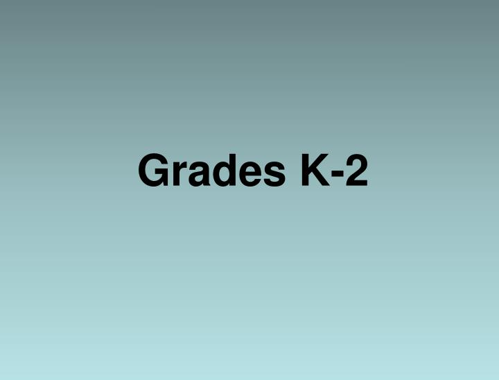 Grades K-2