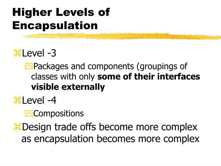 Higher Levels of Encapsulation