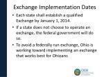 exchange implementation dates
