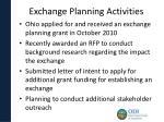 exchange planning activities