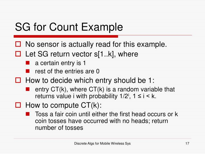 SG for Count Example
