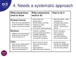4 needs a systematic approach1