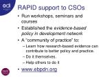 rapid support to csos