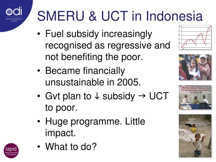 SMERU & UCT in Indonesia