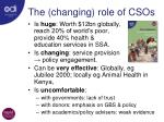 the changing role of csos