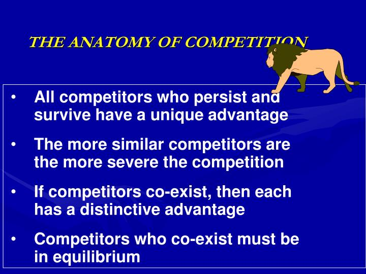 The anatomy of competition