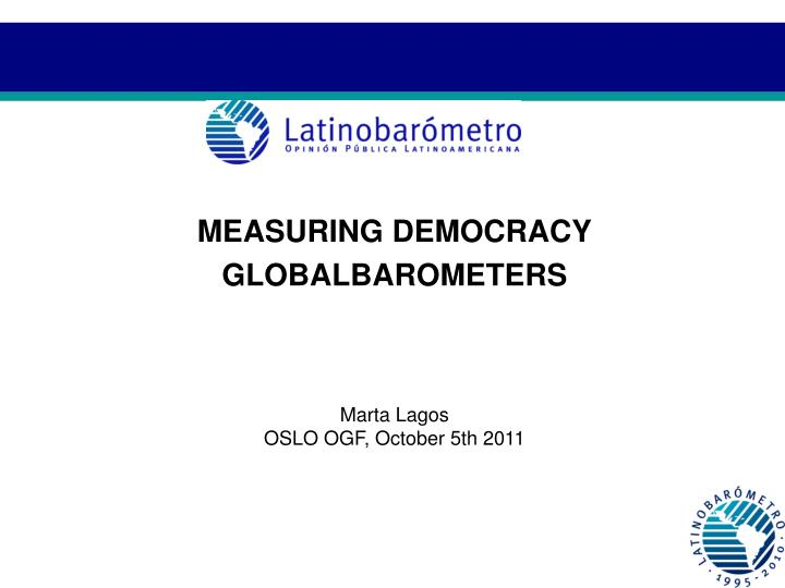 MEASURING DEMOCRACY