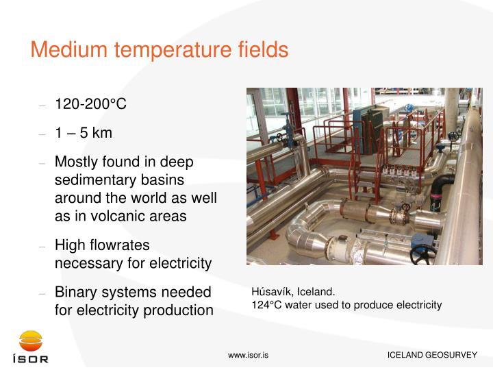 Medium temperature fields