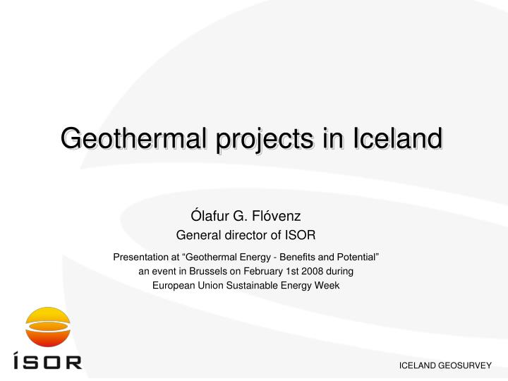 Geothermal projects in Iceland