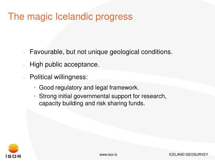 The magic Icelandic progress