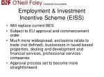 employment investment incentive scheme eiss