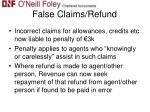 false claims refund