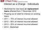 interest as a charge individuals