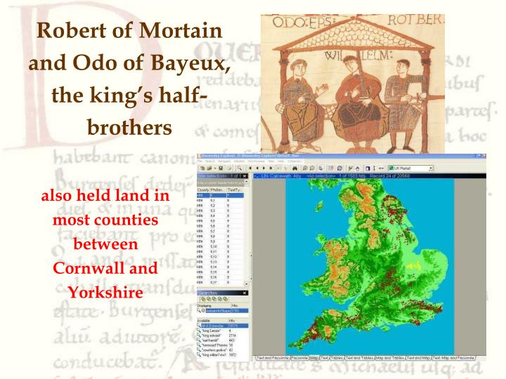 Robert of Mortain and Odo of Bayeux, the king's half-brothers