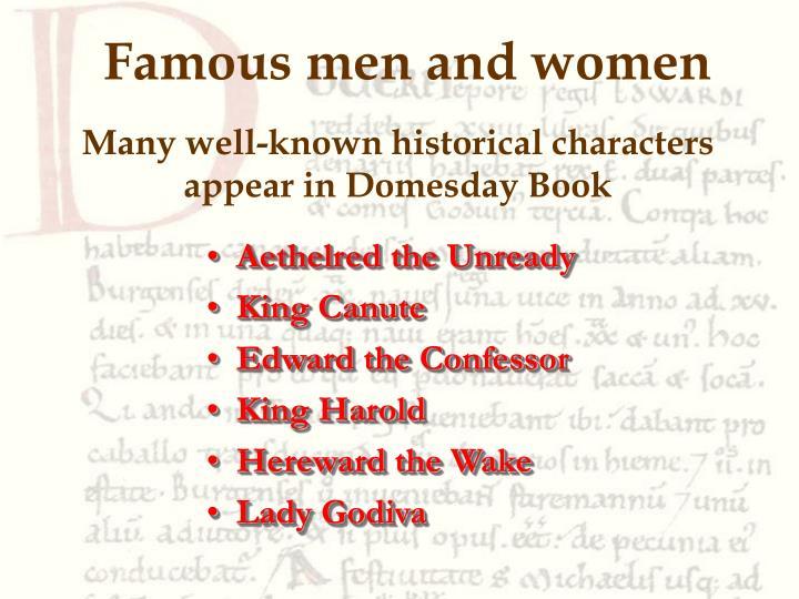 Famous men and women