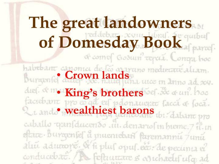 The great landowners