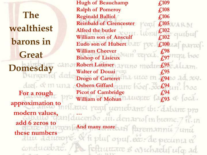 Count Robert of Mortain£842