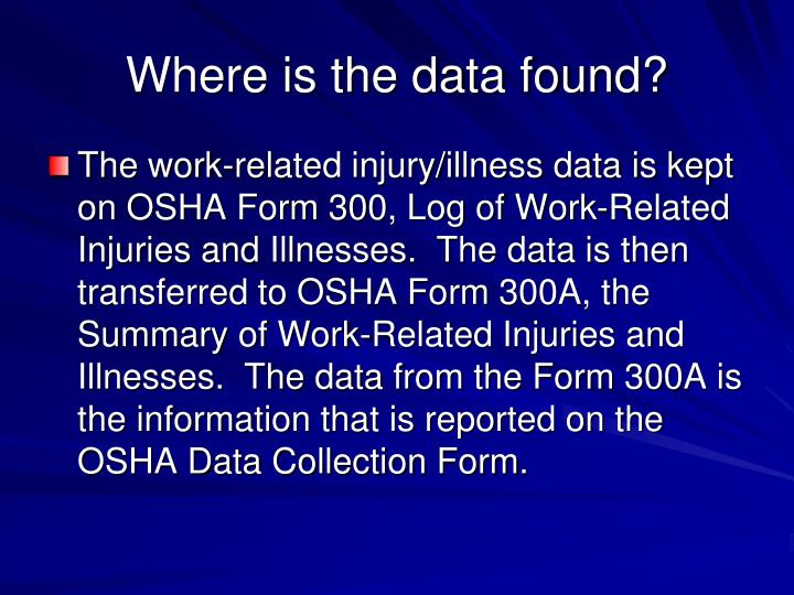 Where is the data found?