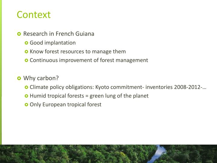 Research in French Guiana