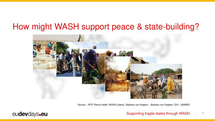 How might WASH support peace & state-building?