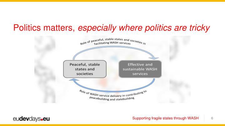 Politics matters,