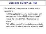 choosing corba vs rmi