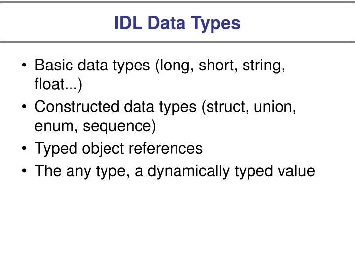 IDL Data Types