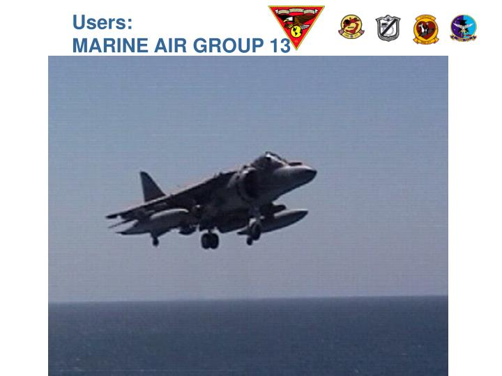 Users marine air group 13