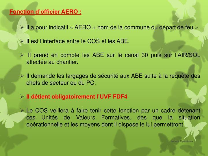 Fonction d'officier AERO: