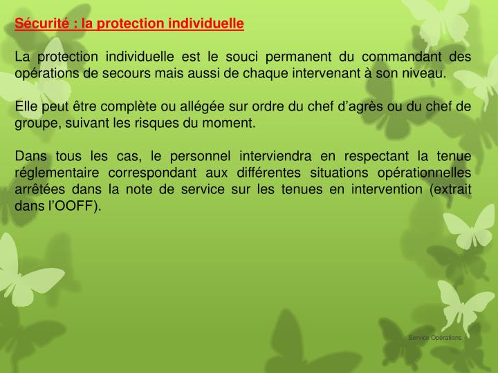 Sécurité : la protection individuelle