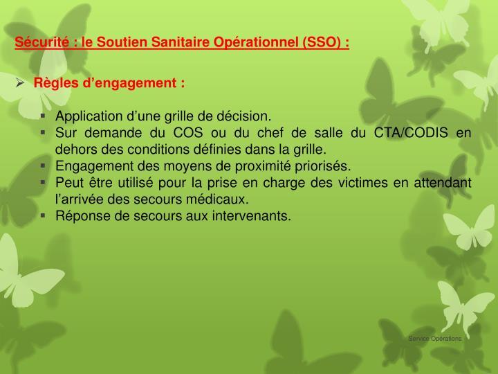 Sécurité : le Soutien Sanitaire Opérationnel (SSO) :
