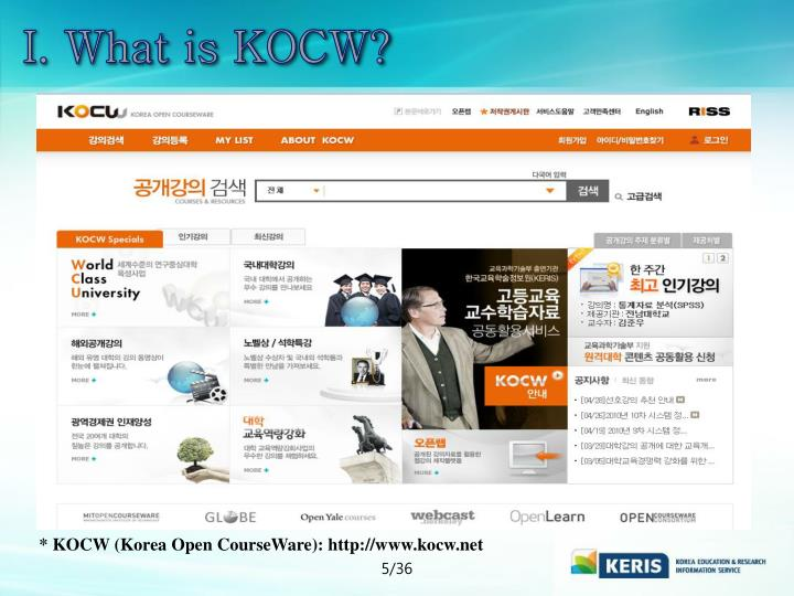 I. What is KOCW?