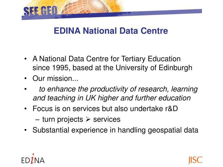 EDINA National Data Centre
