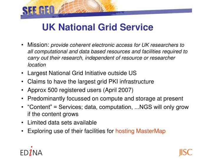 UK National Grid Service