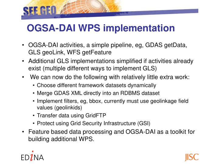 OGSA-DAI WPS implementation