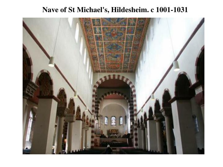 Nave of St Michael's, Hildesheim. c 1001-1031