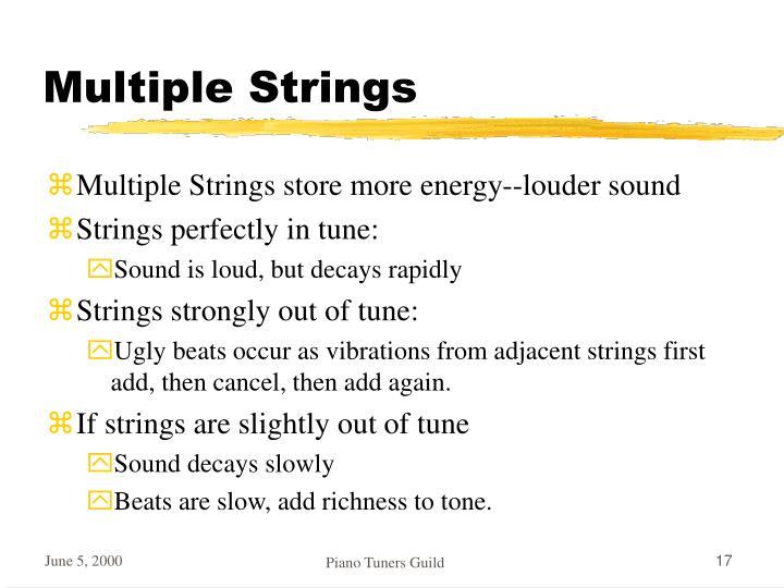 Multiple Strings