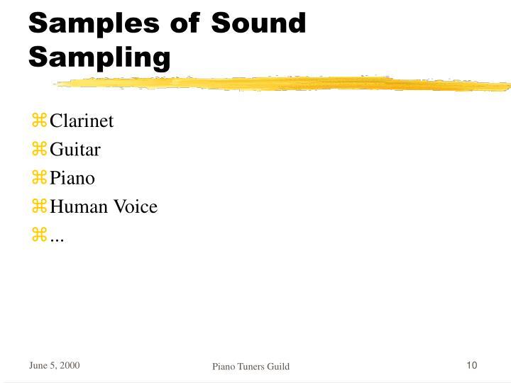 Samples of Sound Sampling