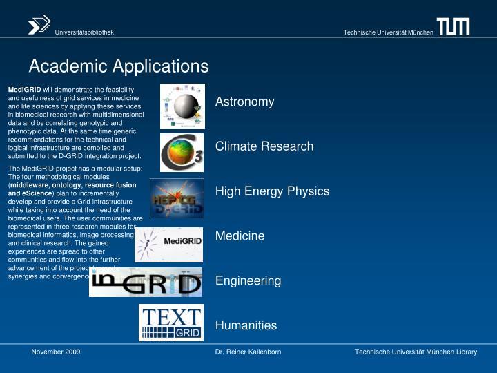 Academic Applications